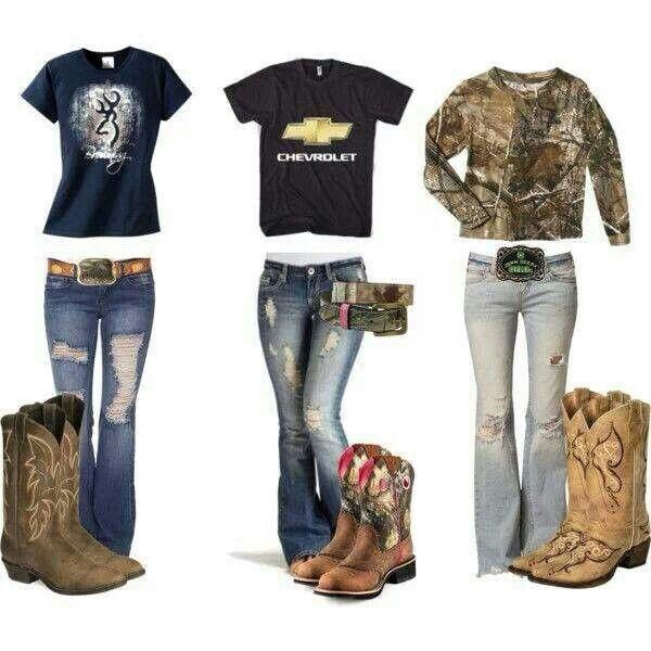 This is a cool country girl outfit. I have to fall in love to a girl who wears that outfit.