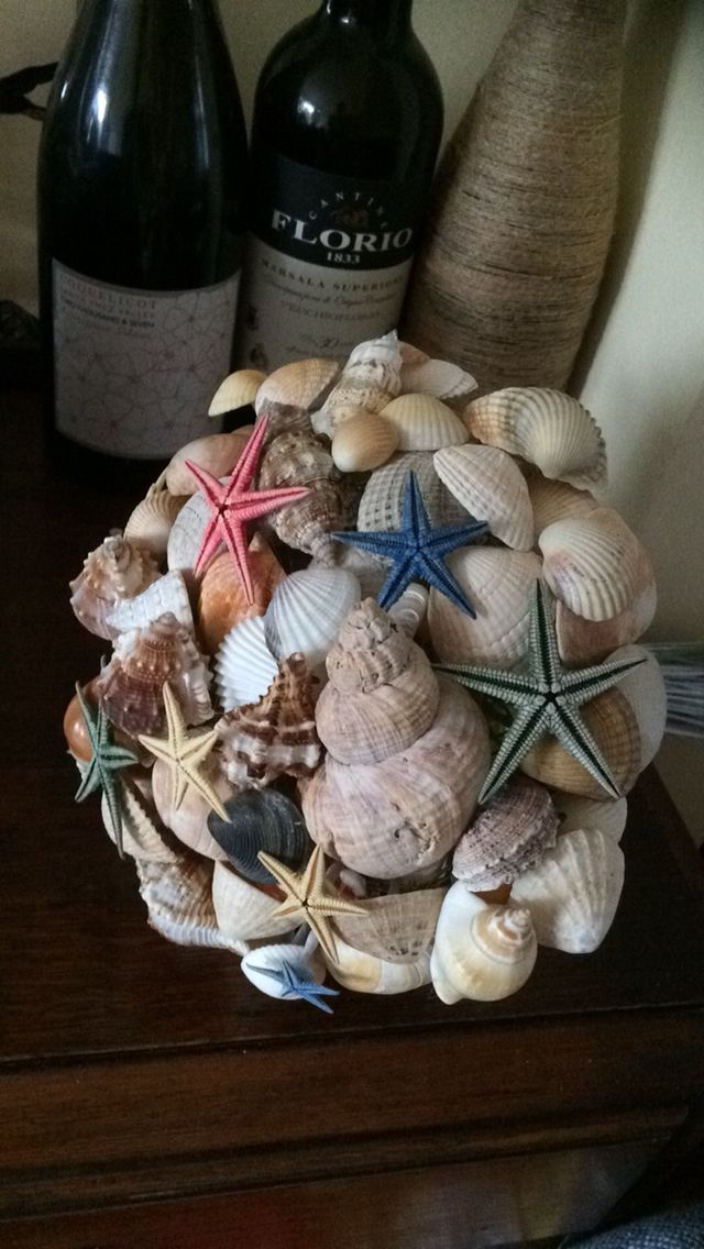 My newest bouquet. Made from shells found and bought on holiday. Www.floriodesigns.co.uk