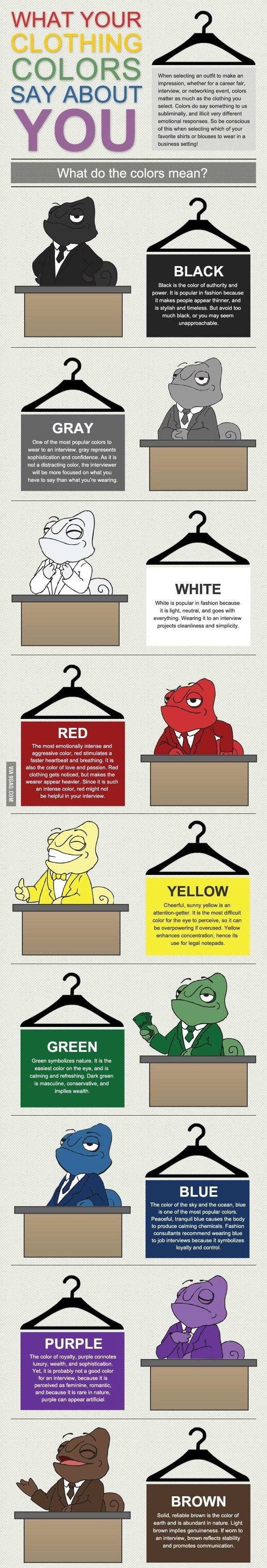 El #color en tu vestimenta dice mas de lo crees. Que dice tu seleccion de hoy?