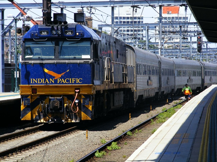 The Indian Pacific, a named- passenger train in Australia.