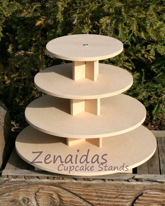 Cupcake Stand Round 4 Tier with Threaded by Zenaidas4urLilAngels, $44.00