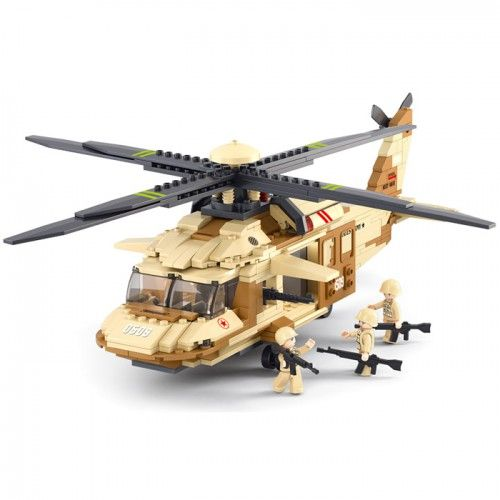 Blackhawk Army Helicopter - Lego Compatible