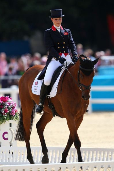 Zara Phillips Photos Photos - Zara Phillips of Great Britain on High Kingdom competes in the Dressage Equestrian event on Day 2 of the London 2012 Olympic Games at Greenwich Park on July 29, 2012 in London, England. - Olympics Day 2 - Equestrian