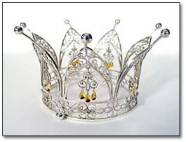 The Norwegian Bridal Crown has long been an integral part of the Scandinavian bridal attire and a treasured family heirloom.