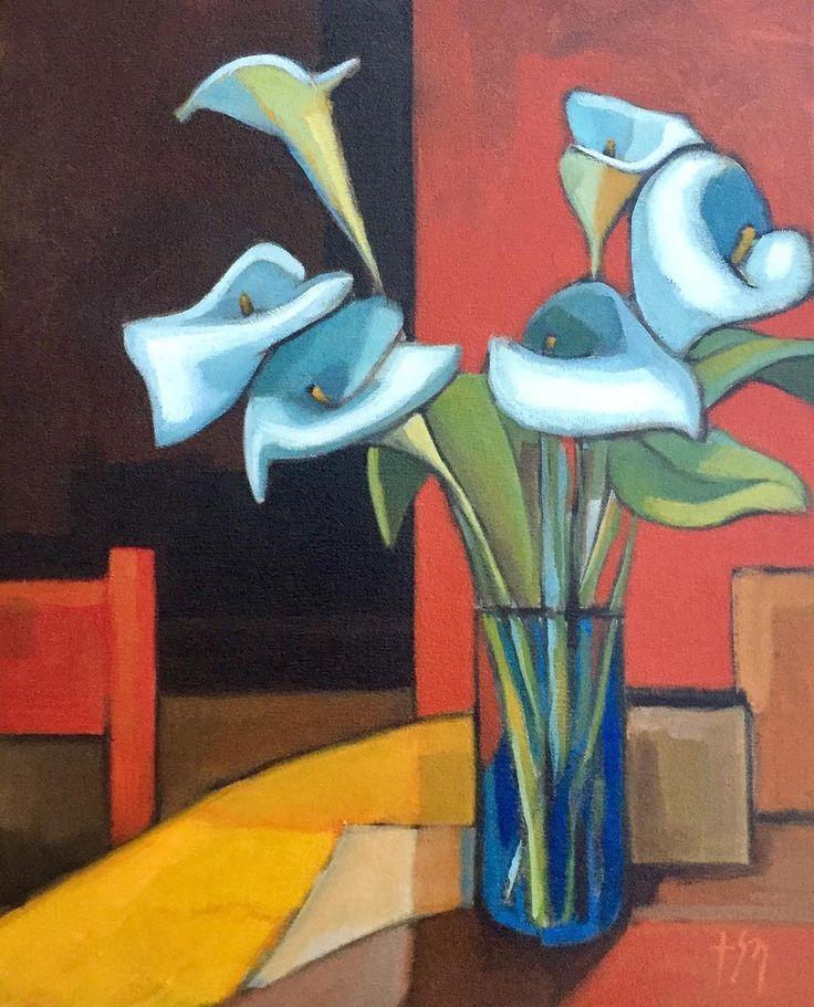#StillLife 2016 #oiloncanvas #calla #lilies #sandronocentini