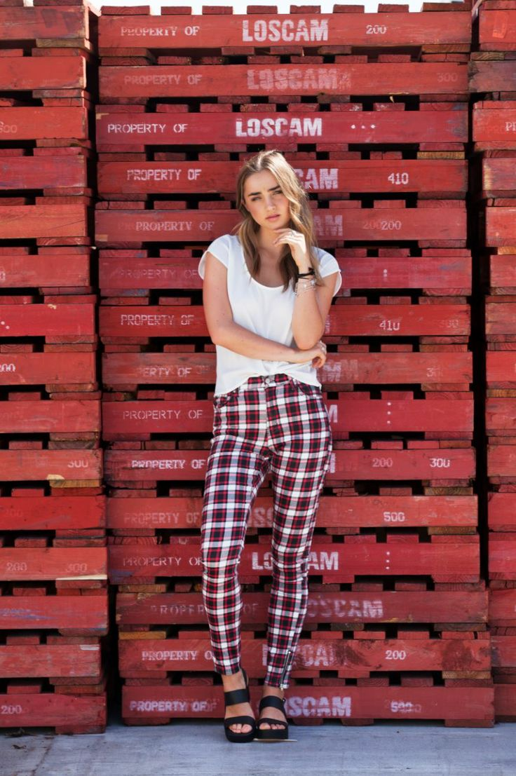look hot in the Mink Pink Plaid Perfect Jeans