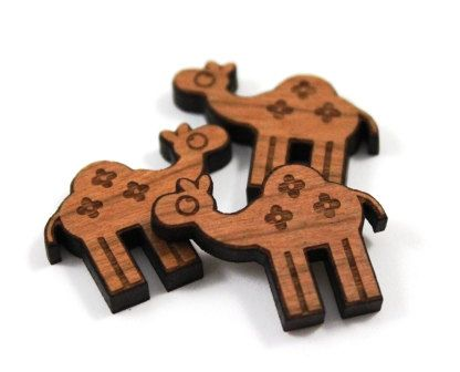 Laser Cut Supplies-8 Pieces Camel Charms Laser by LittleLaserLab