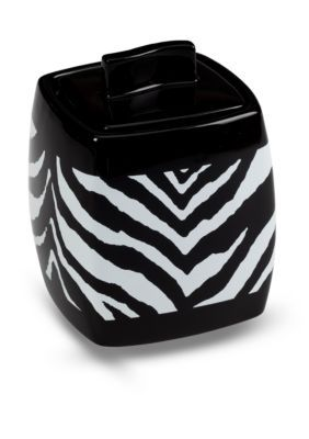 Creative Bath BlackWhite Zebra Jar
