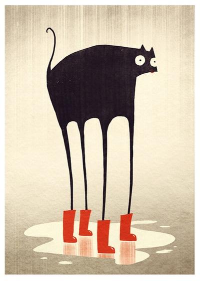 El gato con botas (de agua).  #deliciesterreta