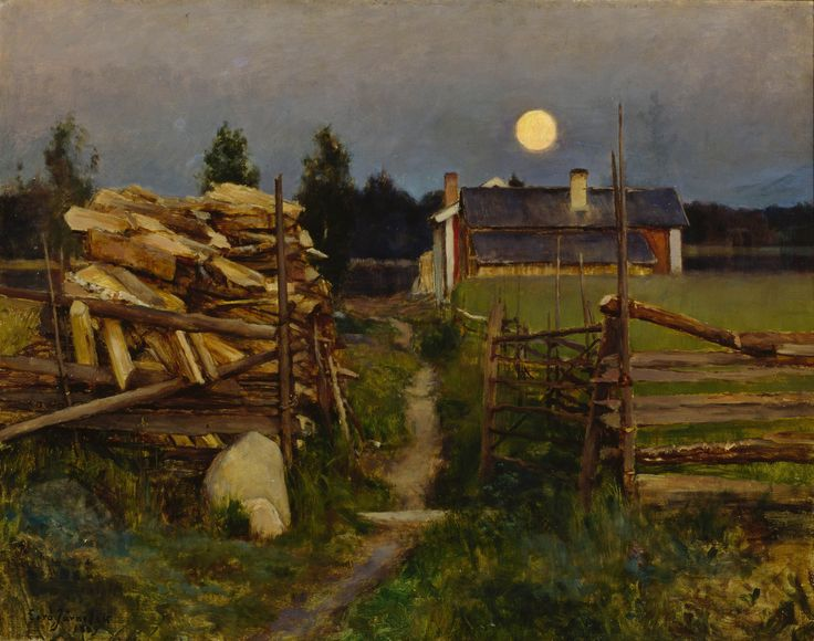 Summer Night with Moon, 1889, Eero Järnefelt