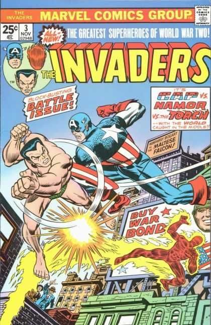 The Invaders #3 (1975) cover by Jack Kirby