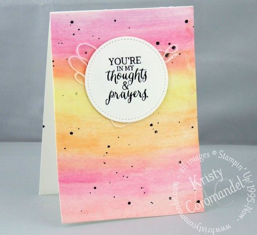Add some fun with watercolour splatter.