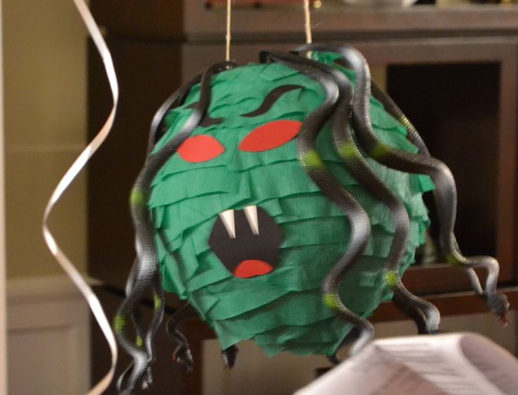 Greek God Party - This Calls for a Party - homemade Medusa pinata