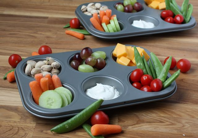 Snack tray lunches! Such a great idea for after having a baby... One handed snacks