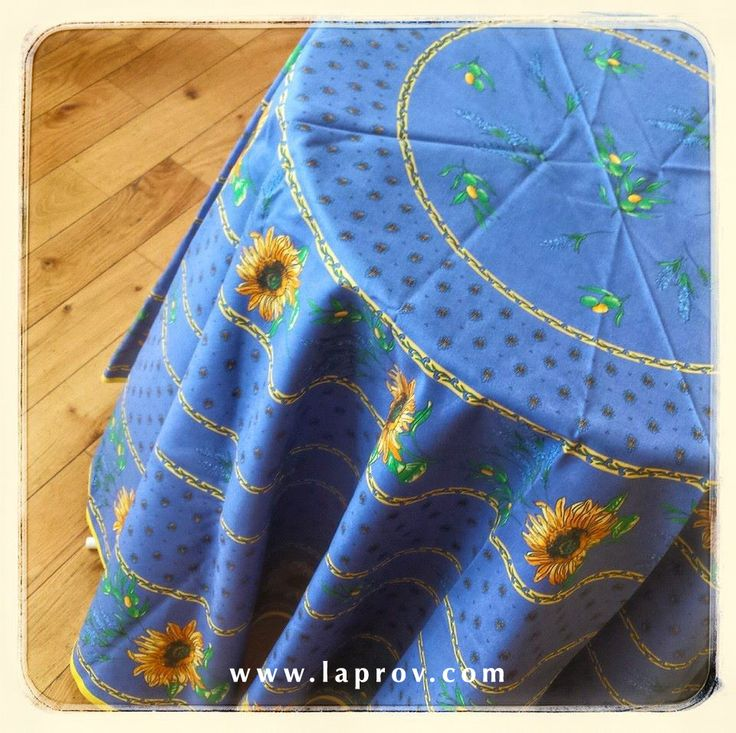 Sunflower & Lavender Blue Provence Tablecloth