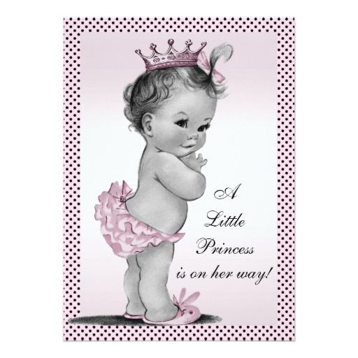 317 best vintage baby shower invitations images on pinterest, Baby shower invitations