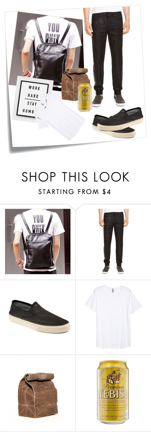 """Creative Ways to Save Money"" by widegren-rosa on Polyvore featuring Post-It, BagBuzz, Kenneth Cole, Sperry Top-Sider, mens, men, men's wear, mens wear, male and mens clothing"