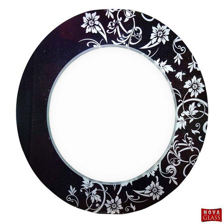 Καθρέπτης Lacoled Φ90 Φωτιζόμενος Μαύρος με αδιάβροχα LED