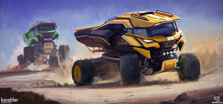 Gauntlet Truck Design 2, Mike Hill on ArtStation at https://www.artstation.com/artwork/gauntlet-truck-design-2