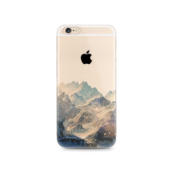 Snow Mountain Nice Scenery Nature iPhone 6s 6 Plus 5s 5 Case Transparent Clear Soft Silicone Rubber Printed Cover Case Free Shipping