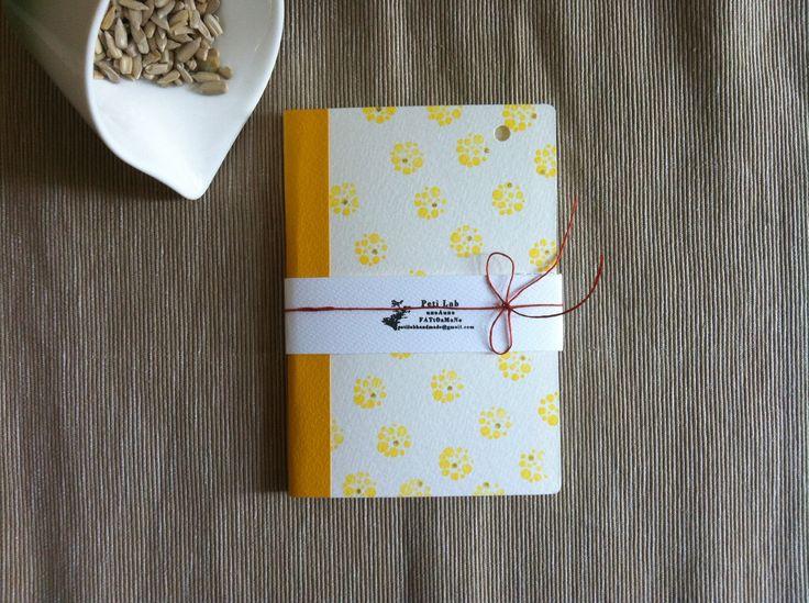 Mini Notebook Sunshine - handmade