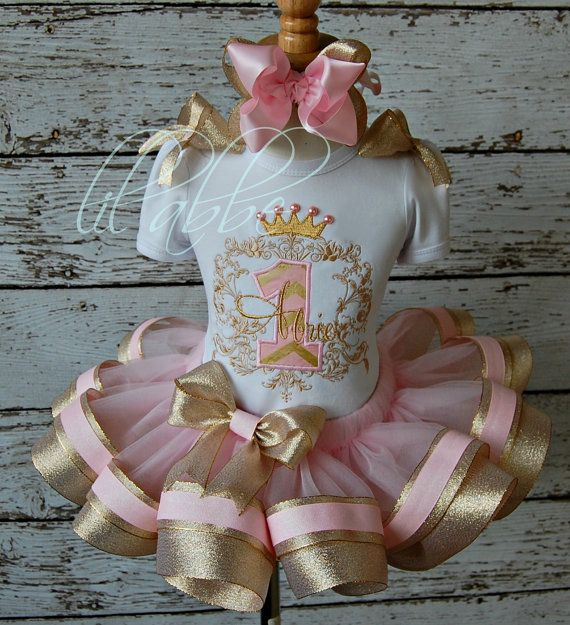 Once Upon a Time, Princess Tutu Set~Includes Scrollwork Top, Sparkle Ribbon Tutu, Hair Bow~GORGEOUS!