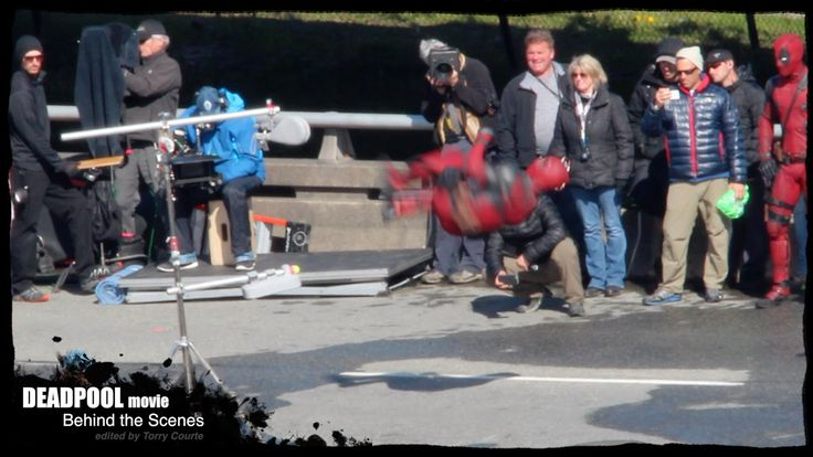 DEADPOOL MOVIE Behind the Scenes: Deadpool's Sick Move Gets Props!