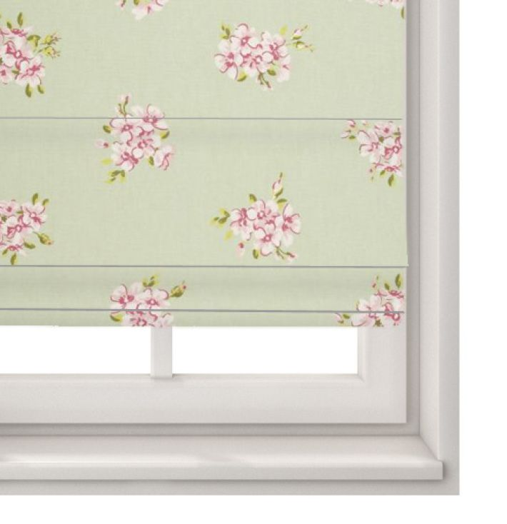 Roman Blind Tilly Sage - Clarke And Clarke Modern Classics Collection Made to Measure Roman Blinds - Made to Measure Roman Blind in Tilly Sage.Clarke and Clarke`s Tilly fabric is part ofthe fabulous Modern Classic`s