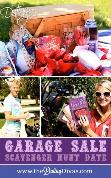 How about a Garage Sale Scavenger Hunt for a fun date idea? Printables included!