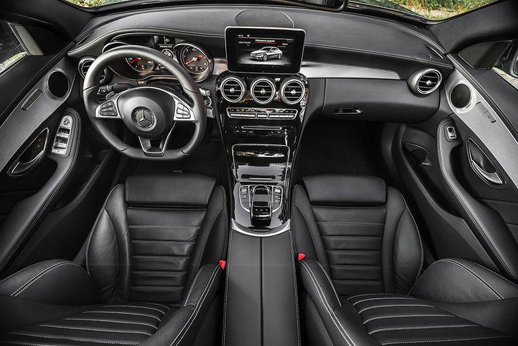 New Mercedes C class interior shoot via sunroof #mercedes #interior #amg see more: http://premiummoto.pl/12/11/mercedes-benz-c220-bluetec-galeria