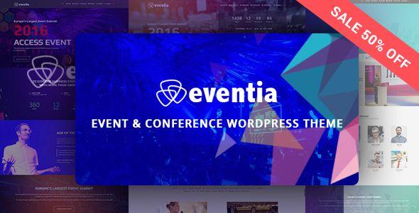 Eventia - Conferencia y eventos Responsive WordPress Tema - Eventos Entretenimiento