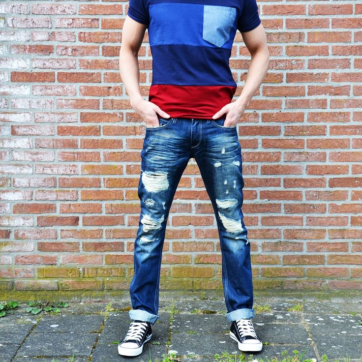 Ripped blue jeans €27,99 http://mymenfashion.com/catalogsearch/result/?q=ripped