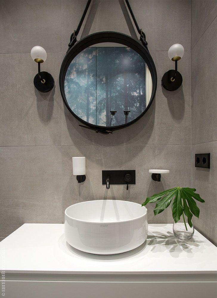 Stylish Minimalism In A Small Moscow Apartment 44 Sqm Foto Idei Dizajn Bathroom Mirror Makeover Rectangular Bathroom Mirror Small Bathroom Mirrors