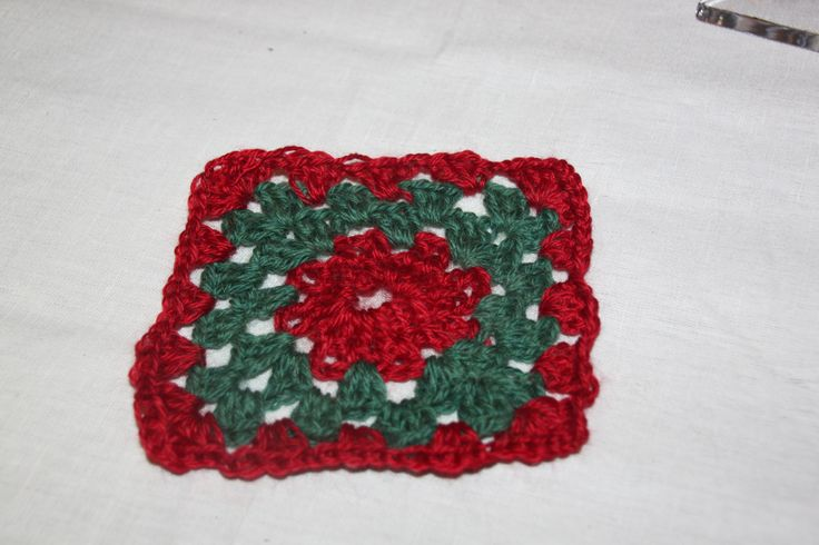 My Granny square for a Blankett.