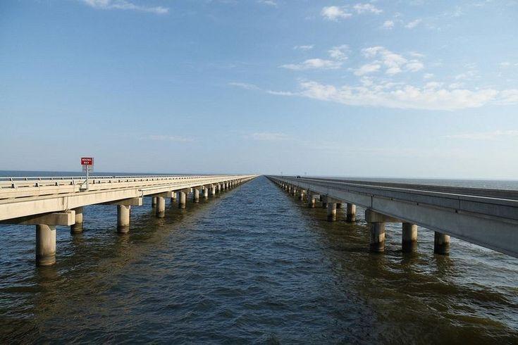 A ponte do lago Pontchartrain está reivindicando ''o título de maior ponte do mundo''