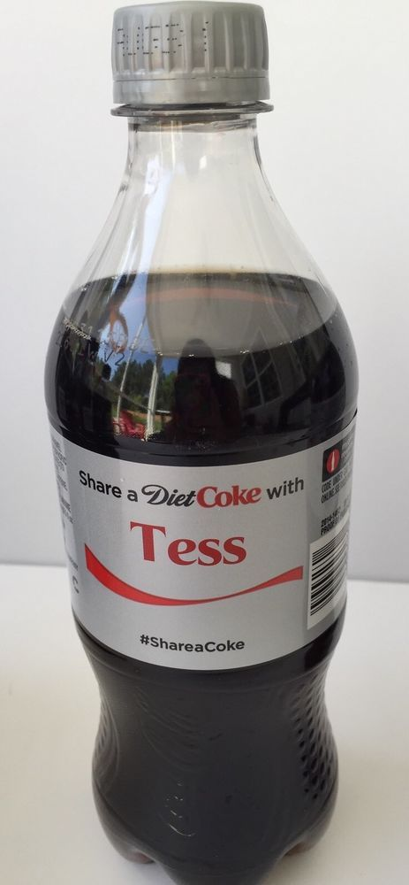 Share a DIET COKE With TESS Collectible Coca Cola Bottle Name  | eBay
