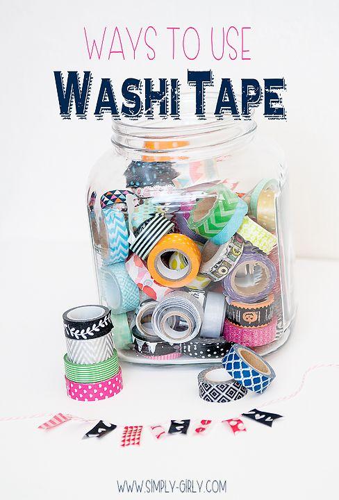 Creative ways to use Washit tape