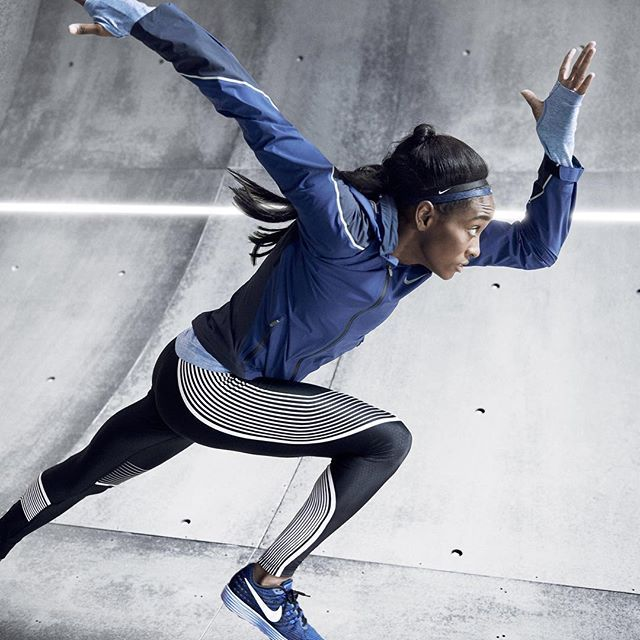 There's a reason superheroes wear tights.  When your superpower is super speed, dress accordingly. National Champion in the 100M, English Gardner, wears our Nike Power Speed Tight as she shaves milliseconds.  Grab yours and pick up the pace. Find them at nike.com. Link in our bio.