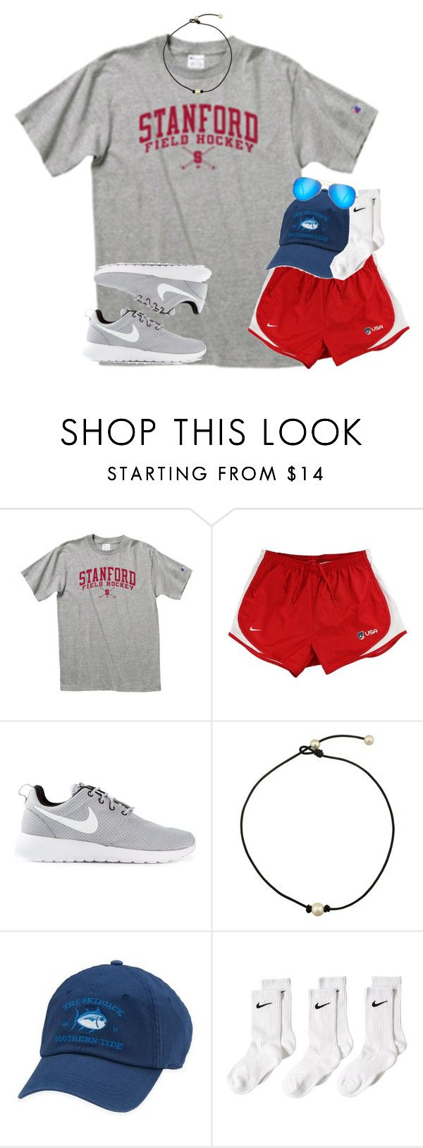 """i suck at athletic/comfy sets no judge// day 7"" by thefashionbyem ❤ liked on Polyvore featuring NIKE, Southern Tide, Ray-Ban and lydscruise2016"