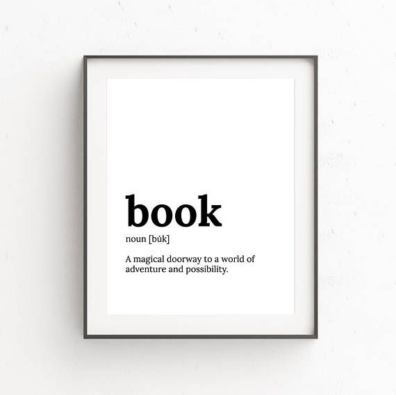 Minimalist print: BOOK LOVERS  Printable art to help turn your house into a home. Our artworks can be found in homes and businesses across the United States, Canada, Europe, the U.K. and Australasia. Looking for a book lovers gift? This defintion print would make the perfect gift. Simple to