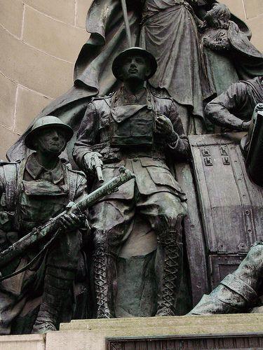 War Memorial at the Exchange Buildings, Exchange Flags, Liverpool, Merseyside