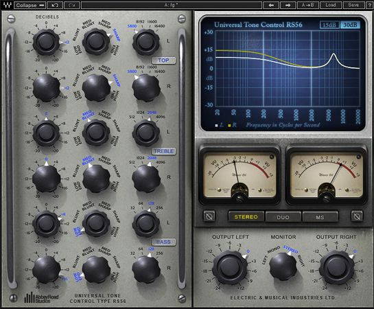 Gearjunkies.com: Waves Audio and Abbey Road Studios Unveil RS56 Plugin