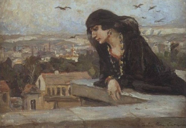 Woman on a Cairo terrace
