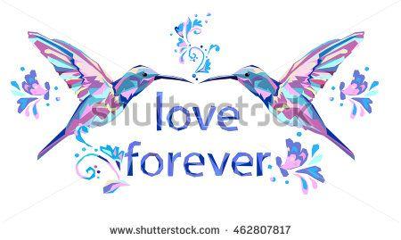 card for February 14 vector, Valentine's Day illustration, Hummingbird (colibri) vector illustration bird, colibri bird