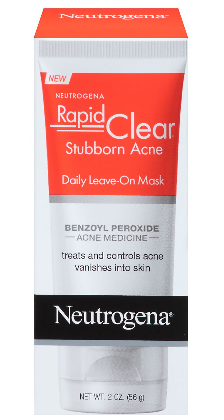 The Best Acne-Fighting Products on Drugstore Shelves - Neutrogena Rapid Clear Stubborn Acne Leave On Mask  - from InStyle.com