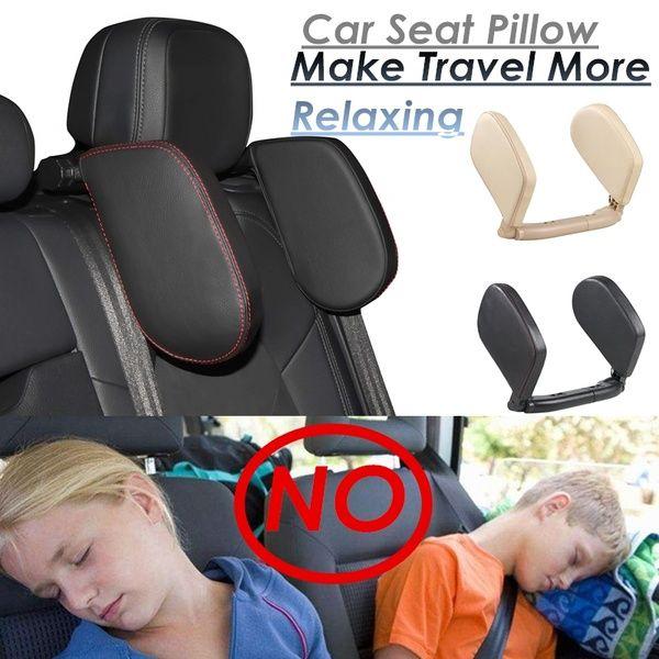 Child Kids Toddler Car Auto Seat Belt Shoulder Pad Cover Head Neck Support beige