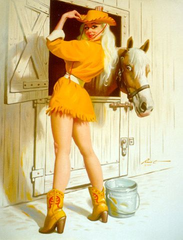 Lifestyle of a Pin-up Girl: Cowgirl Pin-up