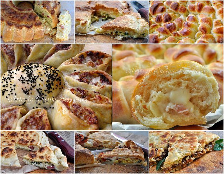 Menu di ferragosto antipasti torte salate pan brioche ricette vickyart arte in cucina