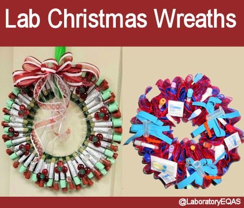 Lab Christmas wreaths