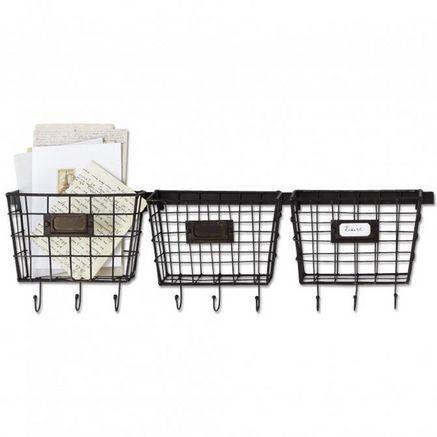 'Baskets' Metal Wall Hooks